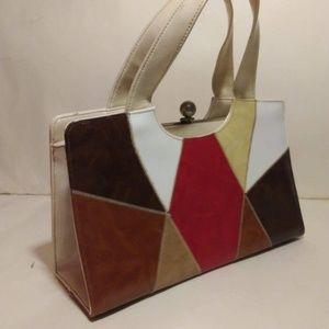 Vintage Air Step Leather Handbag Purse
